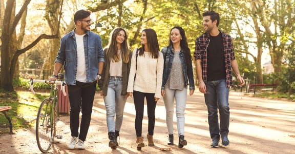 Students on Campus | Wake Forest Apartment Homes