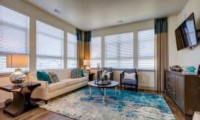 Living room at Windsor at Pinehurst, Lakewood, Colorado