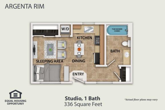 Floor Plan  Plan A Furnished