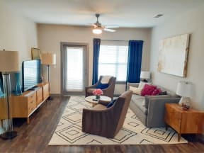 Classic Living Room Design With Television at One White Oak, Cumming