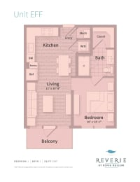 Floor Plan  Studio apartment for rent