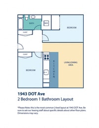 1943 DOT Ave Apartments Two Bedroom One Bath No Island