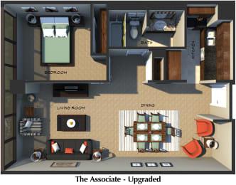 Floor Plan The Associate (Upgraded Suite Style)