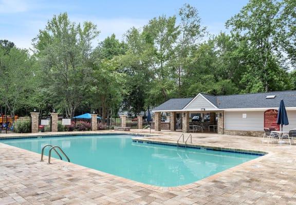 Swimming pool at Brookstone Apartments