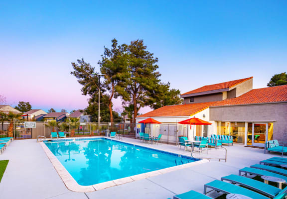 Pool and sundeck at Accent on Decatur Apartments in Las Vegas, NV