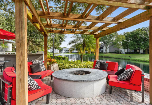 The view at Carrollwood Station apartments in Tampa, Florida