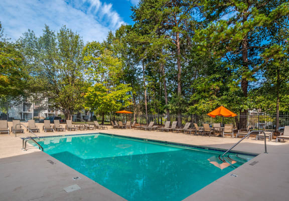 Outdoor pool at Stoney Trace Apartments in Charlotte, NC