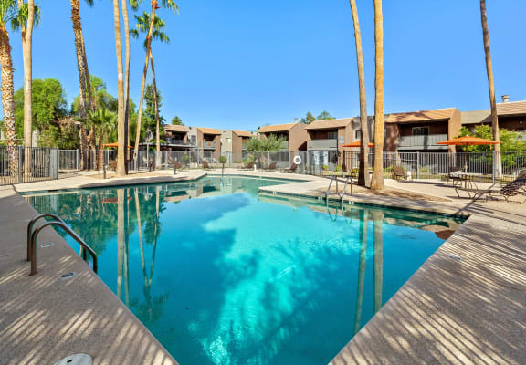 View of swimming pool at Tanque Verde Apartment Homes in Tucson, AZ