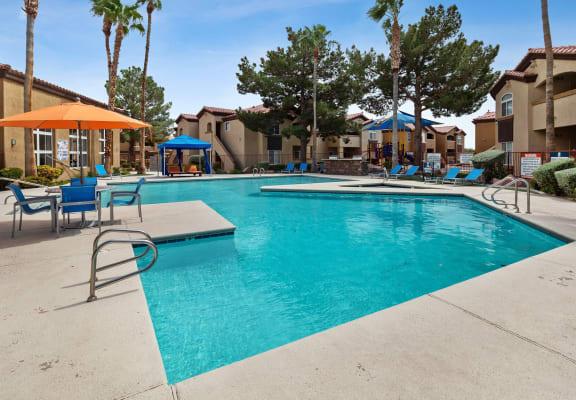Pool and sundeck at Topaz Springs in Las Vegas, NV