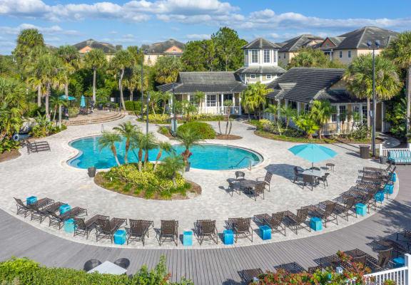 Pool and sundeck at Veranda at Westchase Apartments in Tampa, FL