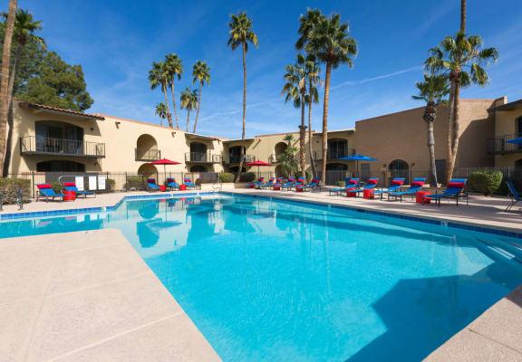 Pool and sundeck at Vertu Apartment Homes in Phoenix, AZ
