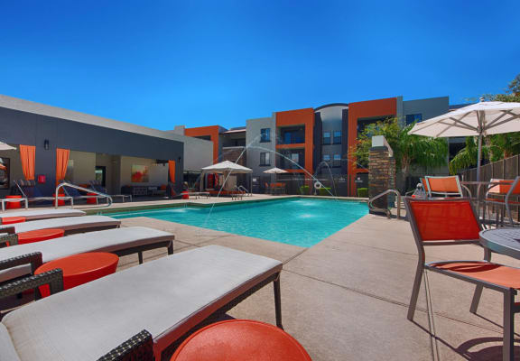 Pool and sundeck at Harmony at Surprise Apartments
