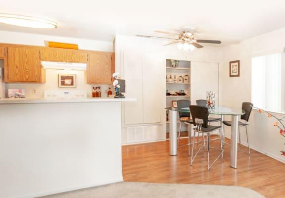 Contemporary Dining Area at Aspen Park Apartments in Sacramento, CA 95823