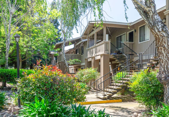 Exterior Staircase at Bent Tree Apartments in Sacramento, CA 95842