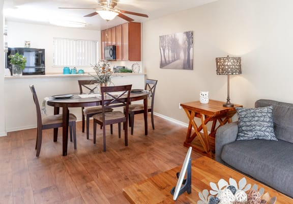 Warm Living Room at California Place Apartments in Sacramento, CA 95823