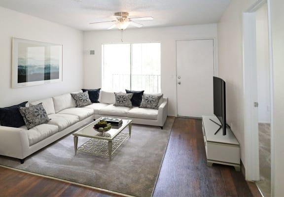 Contemporary Living Room at Creekside Villas Apartments in San Diego, CA 92102