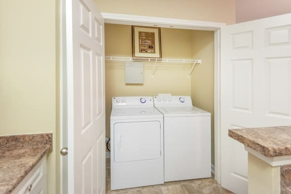 Belle Harbour Apartments - full-sized washers and dryers