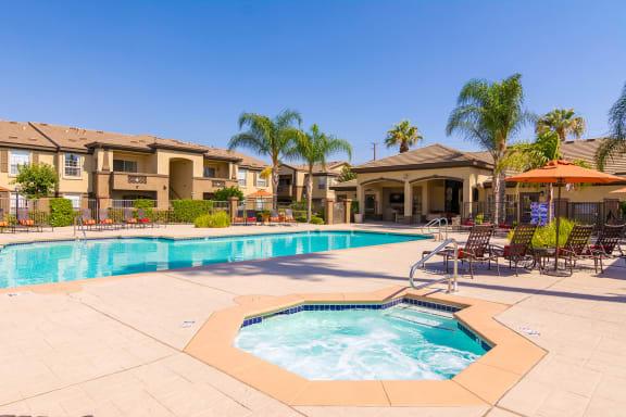 Barton Vineyard Apartments resort-style pool and spa