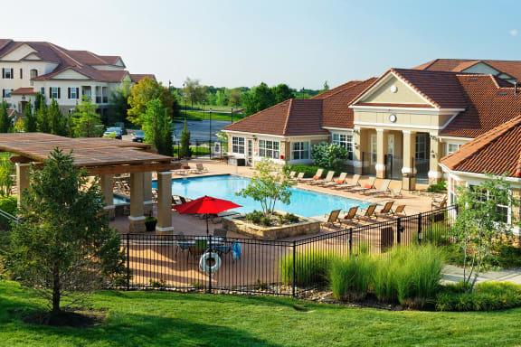 Cordillera Ranch Apartments - Exterior buildings and pool