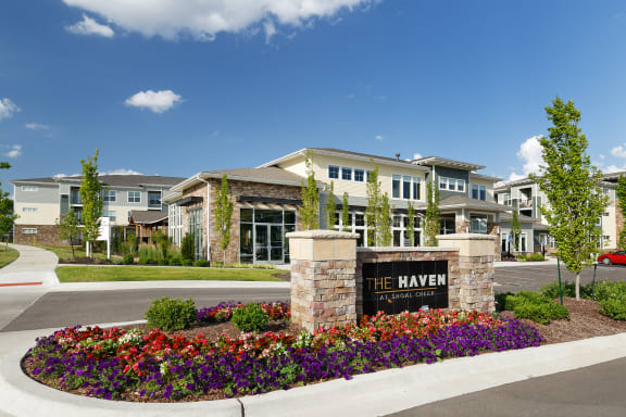 The Haven at Shoal Creek entrance