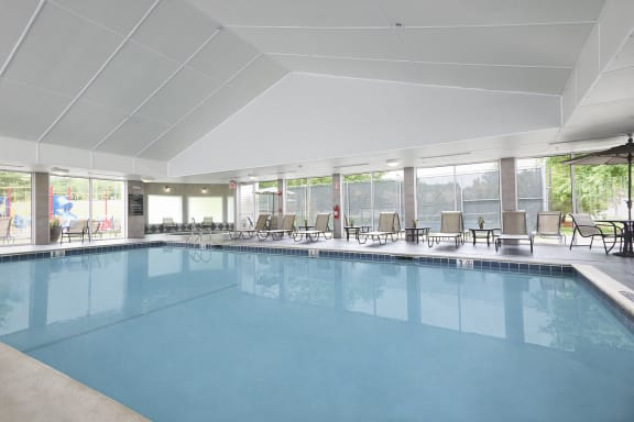 Hampshire Green Apartments - Full-sized indoor pool with deck area