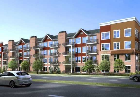 Heritage at Church Ranch_Exterior Building Rendering