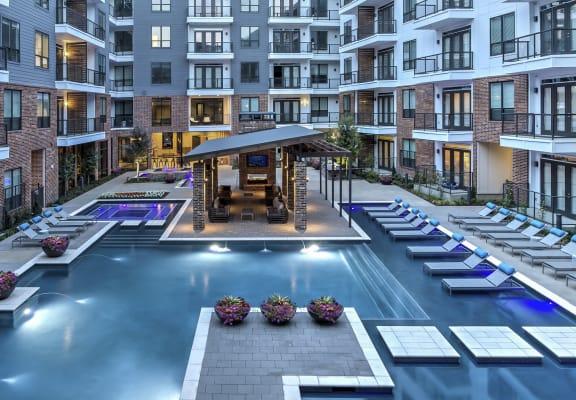 Resort style pool at Windsor Fitzhugh, 4926 Mission Avenue, Dallas