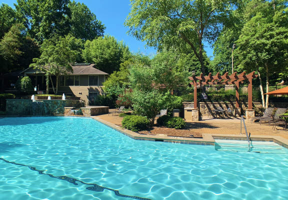 Relaxing Swimming Pool at Park Trace Apartments in Norcross, GA 30092