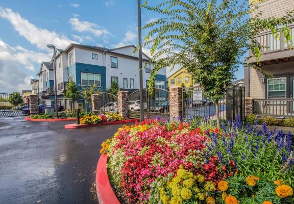Entrance to community Latitude Apt  homes Happy Valley OR