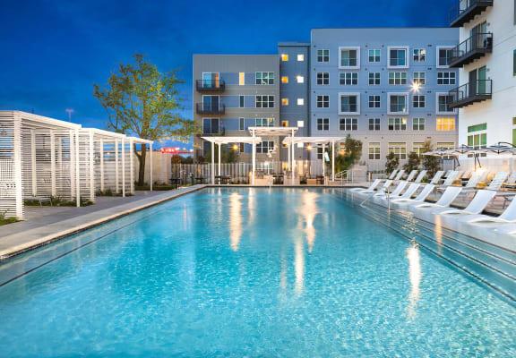 Resort style pool at Windsor Metro West, Plano, TX