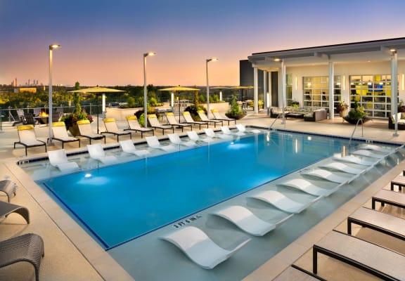 Resort style pool at The Encore by Windsor, Atlanta, GA