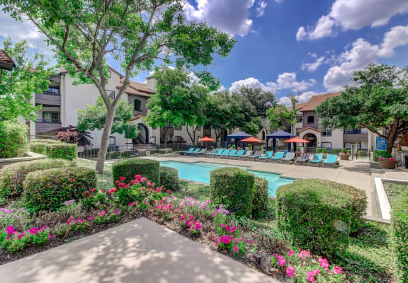 Pool and sundeck at Windsor on White Rock Lake, 9191 Garland Road, Dallas