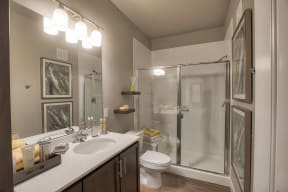 Spa-Inspired Bathrooms at Retreat at the Flatirons, 80020, CO