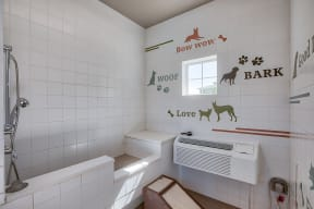Pet Spa and Pampering Station at Retreat at the Flatirons, Broomfield, Colorado