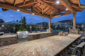 Outdoor Grilling Station at Retreat at the Flatirons, Broomfield, Colorado