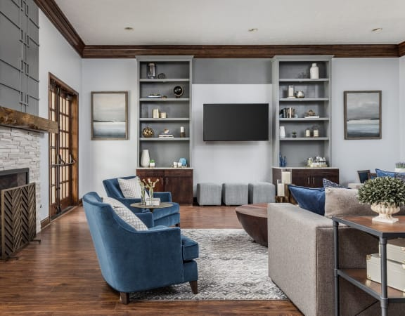 Contemporary Living Room Design at Maple Knoll Apartments in Westfield, IN 46074