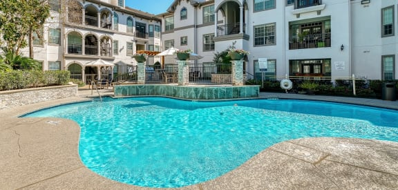 The Carlton Apartments Pool Area and Building Exteriors