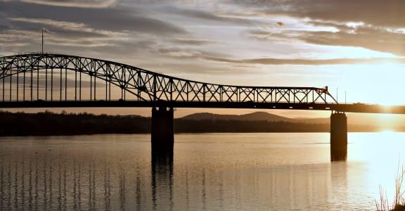 Bridge Over Water in Kennewick, Washington