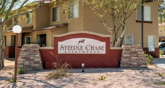 Steeple Chase Apartments Monument Sign