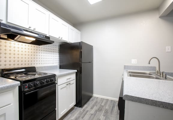 Kitchen at Cinnamon Tree Apartments in Albuquerque NM