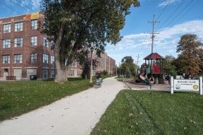 Ovaltine Court On the Illinois Prairie Path