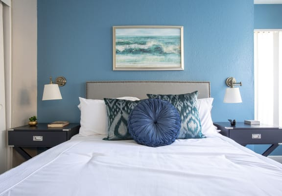Bedroom at Villas de la Terraza Apartments in Albuquerque NM