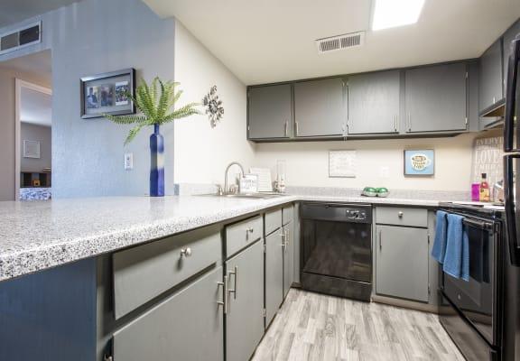 Kitchen at Villas del Cielo Apartments in Albuquerque NM