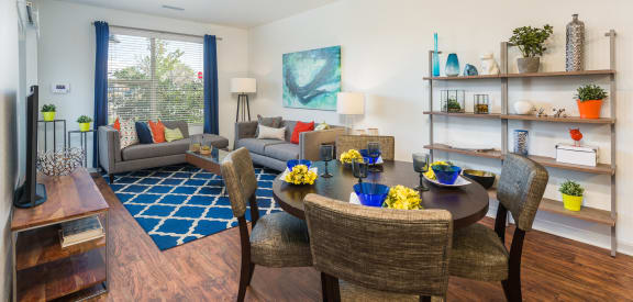 Livign Room at Arterra Place Apartments in Aurora, CO