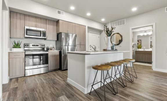 Kitchen at V on Broadway Apartments in Tempe AZ