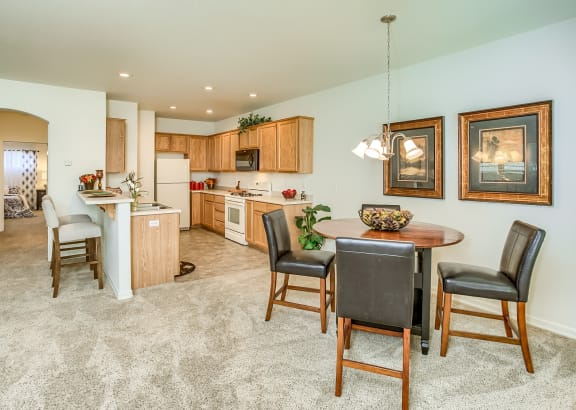 Ridgewood Model Dining Room and Kitchen