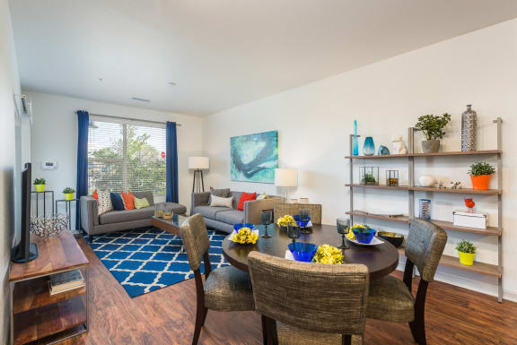 Living Room at Arterra Place Apartments in Aurora, CO