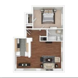Floor Plan 1 Bedroom Floorplan GA