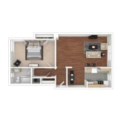 Floor Plan 1 Bedroom Floorplan GC