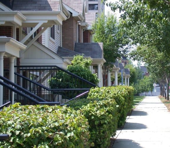 Walkway of Crawford Square Apartments